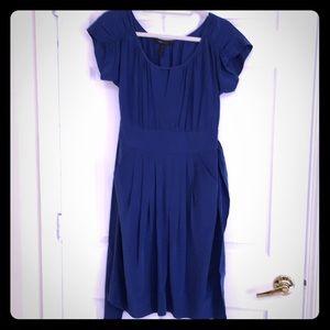Bcbg maxazria size 06 silk navy blue dress